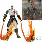 """Hot Sell 7"""" NECA God of War 2 Kratos flame Action Figure movable joints in box"""