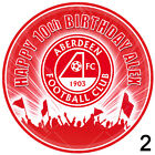 Aberdeen Football Personalised Circle Icing Sheet Cake Topper