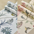 Vintage Floral Bird 10M Wallpaper Roll Pastoral Style TV Wall Paper Home Decor