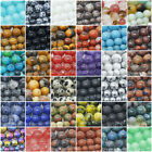 "Natural Gemstone Beads Round Loose 4mm 6mm 8mm 10mm 12mm 15.5"" Strand"