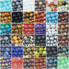 Natural Gemstone Beads Round 4mm 6mm 8mm 10mm 12mm 15.5' Strand