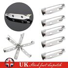 100X BROOCH BACKS BAR PINS 20mm Badge Fasteners Safety Rolling Catch
