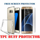 Ultra Thin Clear Gel Case Cover & Free Tempered Glass Samsung Galaxy Models