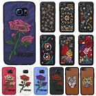 Embroidery Stitched Floral / Animal Retro Fashion Soft Slim Silicone Case Cover