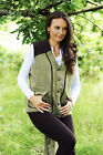 Mens and Ladies Derby Tweed Shooting Bodywarmer Waistcoat Herringbone Check