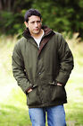 Mens Hunting Padded Jacket 3/4 Genuine Bronte With Moleskin Trim and Hi Viz Band