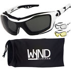 WYND Blocker White Motorcycle Sunglasses Goggles Sports Boating Driving Glasses