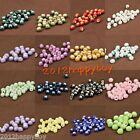 Lots Beauty Floral Design Round Craft Ceramic Porcelain Loose Spacer Beads 6mm