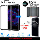 Samsung Galaxy S8 Plus S7 Edge TPU Case Cover+Tempered Glass 3D Protector