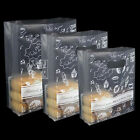 Clear Biscuit Candy Plastic Packing Bag with Handle Food Snack Gift Package Bags