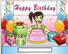 Birthday Teenager Cartoon Character Personalized Matted Print  Product  11 x 14