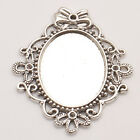 Oval Photo Frame Tibetan Silver Pendants Charms Jewelry Alloy Fit Necklac
