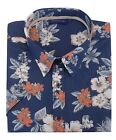 Espionage Mens Pure Cotton Hawaiin Shirt (235) in Deep Blue in Size 2XL to 8XL