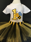 Bumble Bee Birthday Shirt Tutu Outfit Set Party EMBROIDERED 1st 2nd 3rd 4th 5th