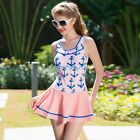 Sexy Women's Skirts Swimwear One-Piece Swimsuit Camisole Dresses Halter Backless