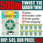 GREEN GARDEN TWINE twist cable tie plant support wire flexible gardening