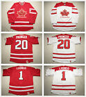 Mens Team Canada 2010 Olympic Jersey 1 Luongo 20 Pronger Blank White Red