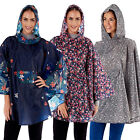 ProClimate Womens Shower Proof Fashion Poncho Ladies New Festival Coat In A Bag