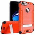 For iPhone 7 PLUS 6 Plus Brushed Kickstand Tough Slim Armor Hybrid Cover Case <br/> Iphone 7 Plus, Iphone 8 Plus Cover Case - USA Fast Ship
