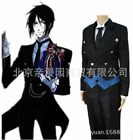 Black Butler Kuroshitsuji Sebastian Michaelis Black Uniform Cosplay Costume Suit