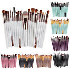 20 Pcs Pro Makeup Set Powder Foundation Eyeshadow Eyeliner Lip Cosmetic Brushes