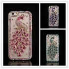 Dower Me Bling Diamond Peacock Case For iphone 7 6 Plus 5 5C 4S For Samsung Gala