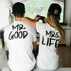 Good Life Hubby Wifey Tshirts Couples Matching Cute just married Tee Shirts Gift