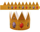 Kids King Queen Paper Crown Hats Dressing Up Party Bags Fancy Dress 1 5 10 20