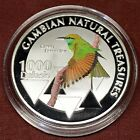 Gambia 1000 Dalasis 2015 Bird Animal Fauna Natural Treasuries Proof
