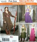 Simplicity Sewing Pattern 1010 Ladies 14-22 Hunger Games Dress Cosplay Costume