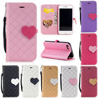 Fashion Love Pattern Flip Pu Leather Card Wallet Stand Case Cover For Phones