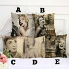 Marilyn Monroe & Audrey Hepburn Design Cushion Pillow Case Cover - NEW