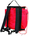 Weaver Leather Backpack Gear Bag,  Red