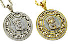 Iced Out Jesus Piece Medallion Pendant Stainless Steel Necklace + 30