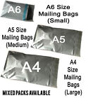 A6 A5 A4 NO WINDOW GREY POSTAL STRONG SELF SEAL MAIL MAILING BAGS Mixed Packs