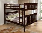 Full over Full Mission Bunk Bed - Cappuccino