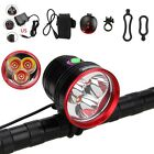 10000LM 3xXML T6 LED 3-Modes Rechargeable Head Torch Bicycle Bike Light 16000mAh