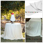 White Sequin TableCloth Tablecloths for Wedding /Event/Party/Banquet Many Size