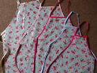 100% COTTON COATED PVC FLOWER APRONS IN 5 SIZES CHILDS AND ADULTS WATERPROOF