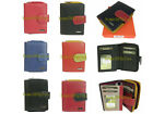 Ladies Full Grain Genuine Leather RFID Blocking Card Holder Zip Small Wallet New