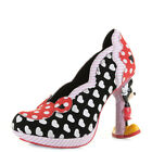Womens Irregular Choice Minnie Mouse Black Red High Heel Character Shoes Size