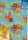 Moshi Monsters Wrapping Paper Gift Wrap+Tag Birthday Event Gift Kids Funny Set