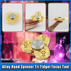 CKF EDC Alloy Hand Finger Fidget Spinner Gyroscope Autism ADHD Focus Toy - Gold