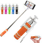 Extendable Selfie Stick Handheld Wired Remote Monopod Foldable For IPhone 7 NEW