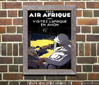 Air Afrique #1 - Vintage Airline Travel Poster [4 sizes, matte+glossy avail]