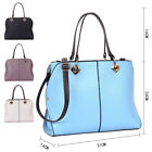 Ladies Faux Leather Tote Bag Women Shoulder Handbag Satchel Office Work Bag New