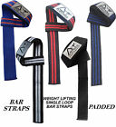 AUSTODEX WEIGHT LIFTING SINGLE LOOP GYM TRAINING GLOVES WRIST SUPPORT BAR STRAPS