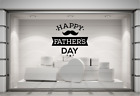 Happy Father's Day Shop Window Sticker Fathers Day Storefront Display Decal