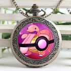 Vintage Monsters Lickitung Domed Glass Watch Necklace Groomsmen Pocket Watch Fob