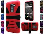 For LG Stylo 2 Plus MS550 Dual Layer Armor Hybrid U Stand Cover Case